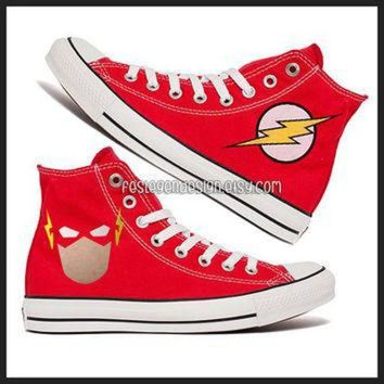 VONR3I The Flash Custom Converse / Painted Shoes