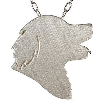 Golden Retriever Necklace Charm Jewelry Silver & Gold for Men and Women