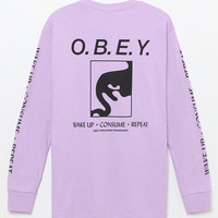 OBEY Wake Up Consume Repeat Long Sleeve T-Shirt at PacSun.com