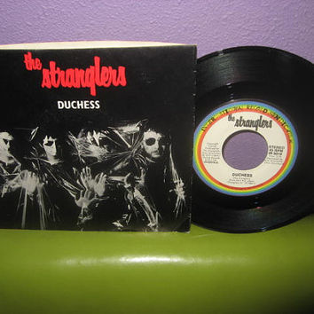 "Rare Vinyl Record The Stranglers - Duchess b/w The Raven 7"" 45RPM 1980 Punk Rock Icons"