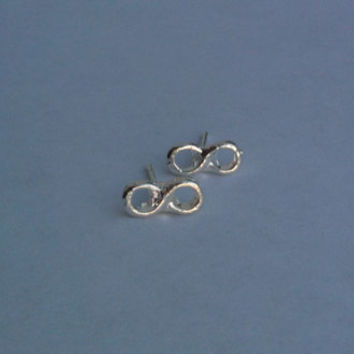 Petite Silver Infinity Earrings