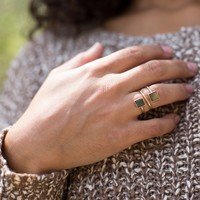Forrest Double Square Ring