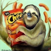 Sloth with Cheetos Print