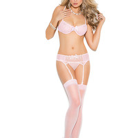 Elegant Moments  EM-5428X  Mesh and embroidered 3 pieces set