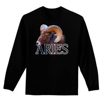 Majestic Aries Picture Adult Long Sleeve Dark T-Shirt