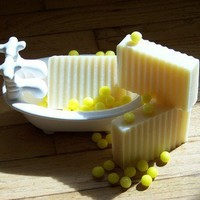 Lemon Drop - Vegan Cold Process Olive Oil Soap | Showertreatsoap - Bath & Beauty on ArtFire