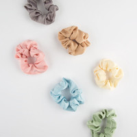 6 Pack Retro Scrunchies