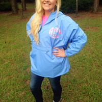 Lilly Pulitzer monogrammed pack n go pullover jacket