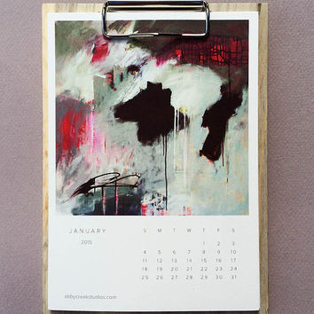 2015 Art Images Clipboard Calendar for Desk or Wall