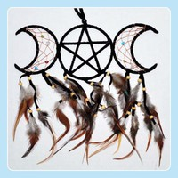 Black Triple Moon Dream Catcher