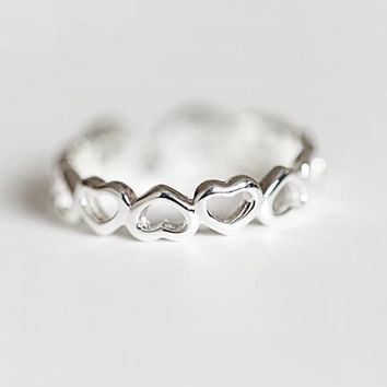 925 sterling silver rings, sterling  silver (the love opening ring)