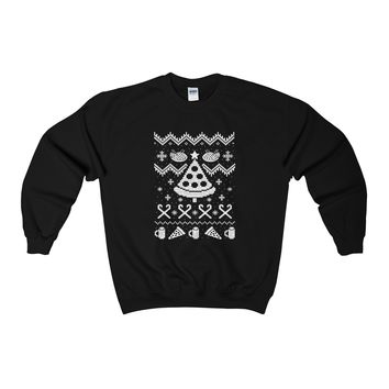 Ugly Christmas Sweater - Pizza Sweatshirt