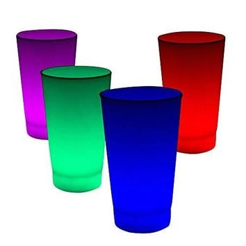 Fun Central I772 Glow in The Dark LED Light up Cup - 16oz Multicolor - 6pc