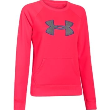 Under Armour Women's Big Logo Letterman Crewneck Sweatshirt - Dick's Sporting Goods