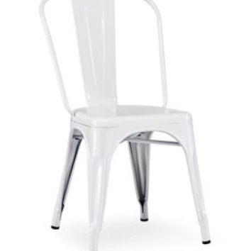 Modrest T-5816 - Modern White Metal Side Chair (set of 4)