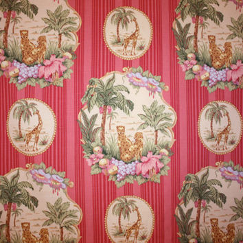 "Designer Fabric / P Kaufmann / Jungle Animals / 54"" Width"