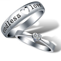 2pcs-925 silvers promise rings plate with the purple platinum.couple rings,wedding bands,lovers rings,platinum promise rings,his her rings