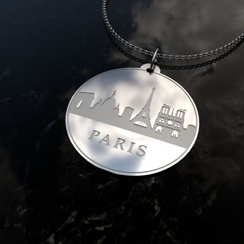 Paris Skyline Sterling Silver Necklace