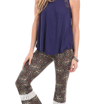 Escape Artist Bohemian Printed Flare Pants