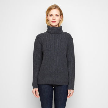 Cashmere Turtleneck - Charcoal