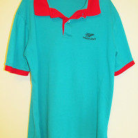 Vintage 80's Miller Genuine Draft Short Sleeve Polo Sz M/L
