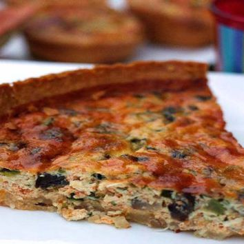 Recipes - Crab and Parmesan Cheese Tart