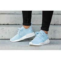 x1love : Adidas NMD R1 blue woman Gym shoes