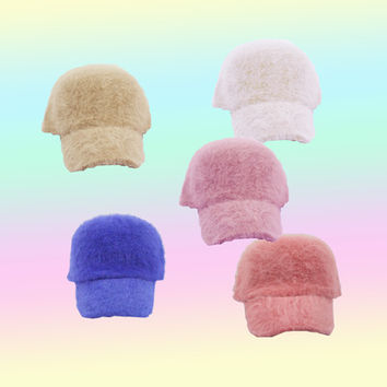 fuzzy kawaii candy cap from Kokopie