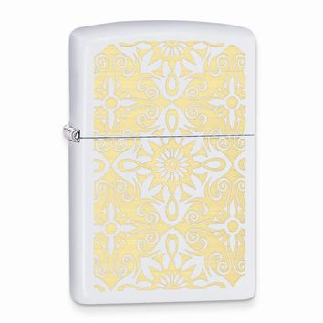 Zippo Classical Curve White Matte Lighter - Engravable Personalized Gift Item