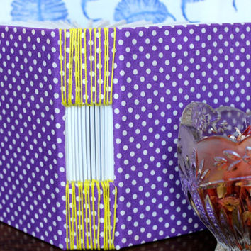 Thick purple blank book, journal, diary, sketchbook