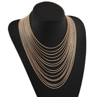 Multi-Layered Gold Chain Necklace