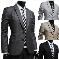 Special Pocket Design Slim Fit Blazer