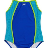 Girl's Speedo Mesh One-Piece Swimsuit,