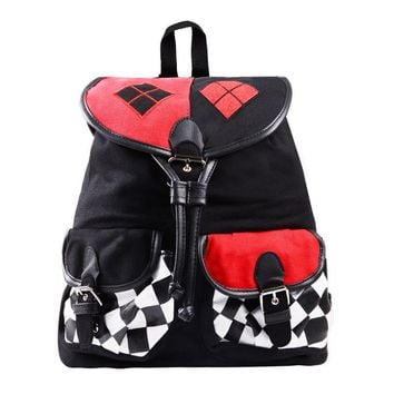 Batman Suicide Squad Harley Quinn Daypack School Shoulder Bag Backpack For Costume Accessories