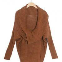 Laple khaki Long Sleeve Sweater$46.00
