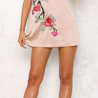 Loran Floral Satin Dress