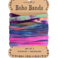 Boho Bands - Tie Dye Orange, Pink & Green