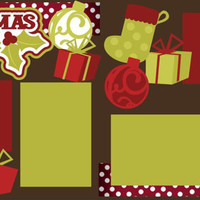 Available for a LIMITED Time - Christmas 2014 Premade 2-page 12 X 12 Scrapbooking Page Layout