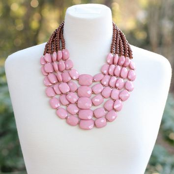 Mauve Bib Necklace