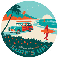 Anderson Design Group's Surfs Up Circle Decal