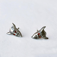 Devil in the Details Stud Earrings, Sterling Silver