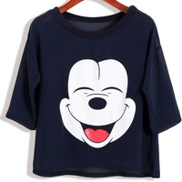 Happy Micky Cartoon Tee - OASAP.com