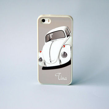 Custom Phone Case Retro iPhone Case iPhone 4s iPhone 5 iPhone 6 case Glow in the dark Monogram Phone Case VW bug
