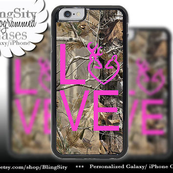 Camo Browning Buck Love iPhone 5C 6 Plus Case Hot Pink Doe Heart Deer iPhone 5s 4 case Ipod Cover real tree camo Country Inspired Girl