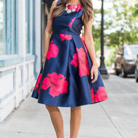 First To Flaunt Dress, Navy