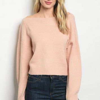 Boatneck Sweater - Blush