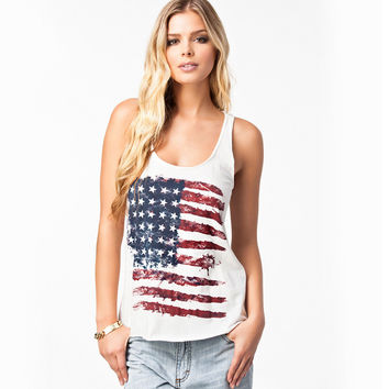 Top Fashion Summer Tops Vintage Tank Top Sleeveless Women Vest American Flags Femmes July Fourth Camisole 4th Of July Clothing