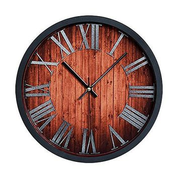 Antique Style Wall Clock Retro Kitchen Roman Numerals