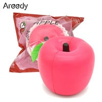 New Arrive 10cm Areedy Super Slow Rising Jumbo Pink Apple Squishy Scented Toy 1pcs