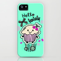 Hello Lovely Cartoon Cupcake.  iPhone & iPod Case by Kristy Patterson Design